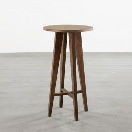'Incline' Tall Side Table in Walnut