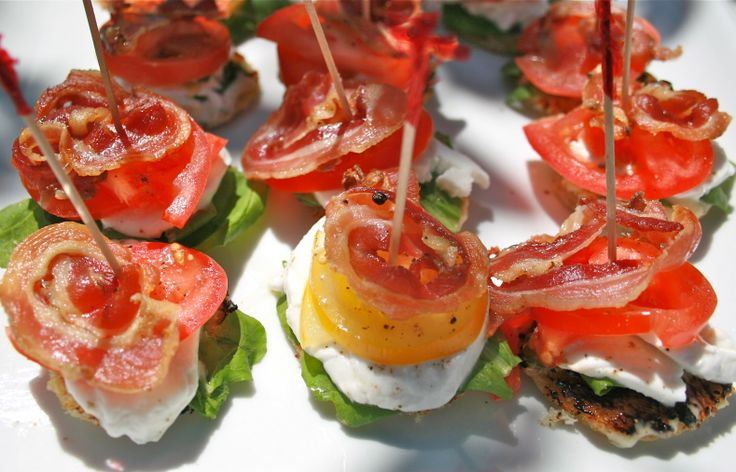 Bacon, egg, lettuce and tomato! BELT Canapes at Taste: Victoria's Festival of Food & Wine. Hosted at the Hotel Grand Pacific.