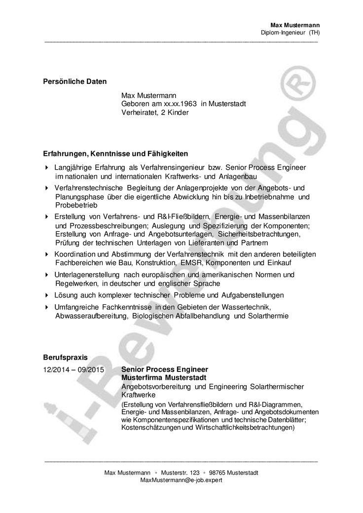 Lebenslauf Diplom-Ingenieur zur i-Bewerbung: So integrieren Sie ein Kurzprofil in Ihren Lebenslauf