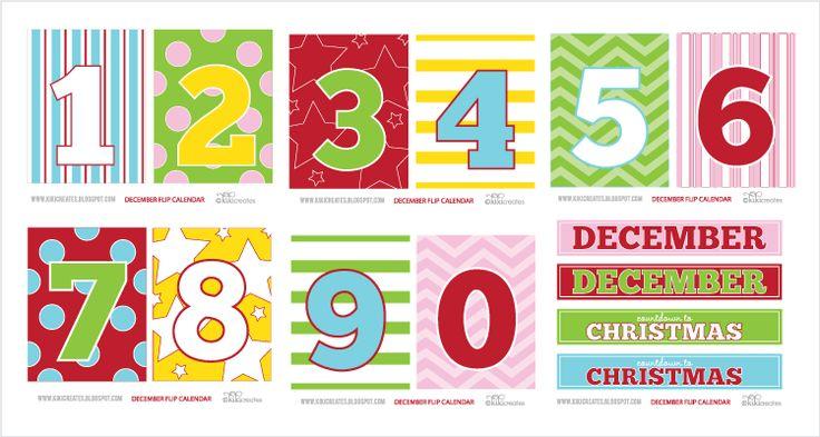 kiki creates: December Calendar {free download}