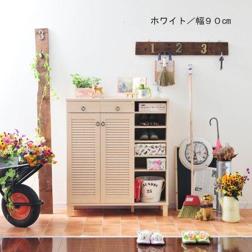 【今だけ★送料無料】カントリー調シューズボックス