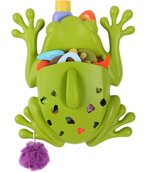 Raccoglitore per giochi e saponi da bagno, a forma di rana.