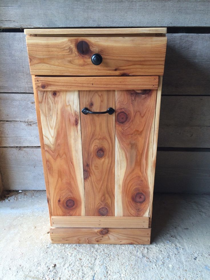 Tilt Out Trash Bin Wood Trash Can By Repurposemama On Etsy Https Www Etsy Com Listing