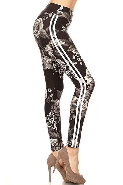 5feaeaa712 Leggings Depot Yoga Waist REG/Plus Women's Buttery Soft Leggings (Charcoal  Rose, One Size (S-L/Size 2-12))