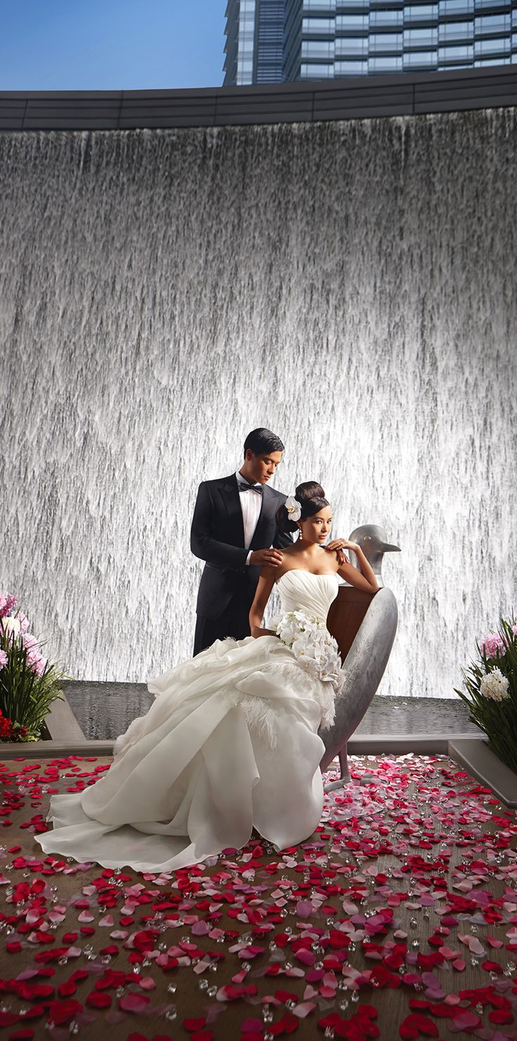 """A big day, a big promise and an adventure that starts with """"I Do."""" ARIA creates #weddings like no other for couples who gave in to the seduction of love and want to celebrate in the bright lights of Las #Vegas.  #ARIAWeddings"""