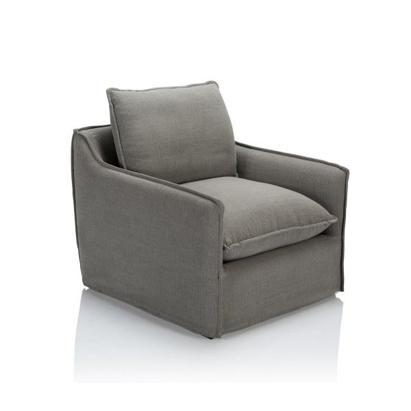 With contemporary form and pinched seam detail, this upholstered chair enhances a modern interior.