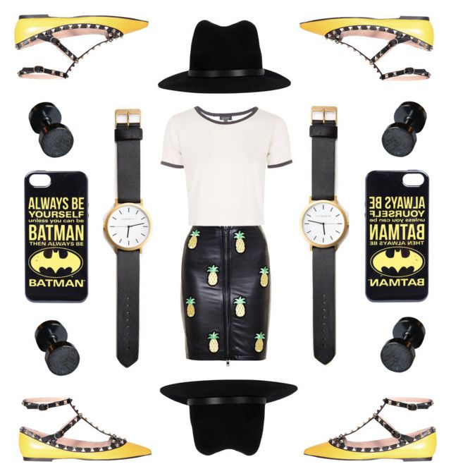 """""""#2  Black and Yellow"""" by alzbeta-zlochova ❤ liked on Polyvore featuring mode, Love Leather, Valentino, Topshop et rag & bone"""