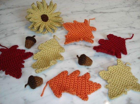 Fall Crochet Patterns : Autumn Mix Crochet Pattern Set