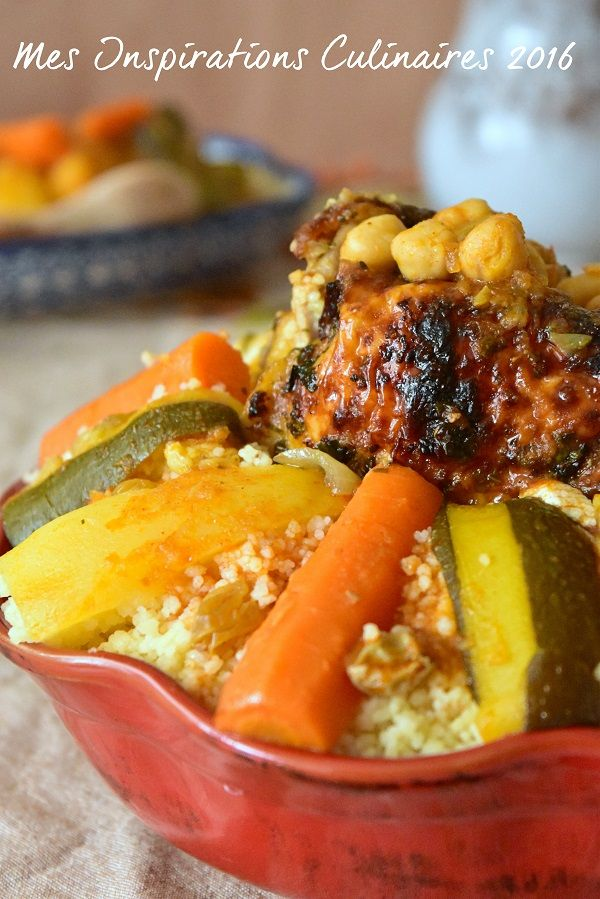 Recette couscous au poulet algerien facile Plus