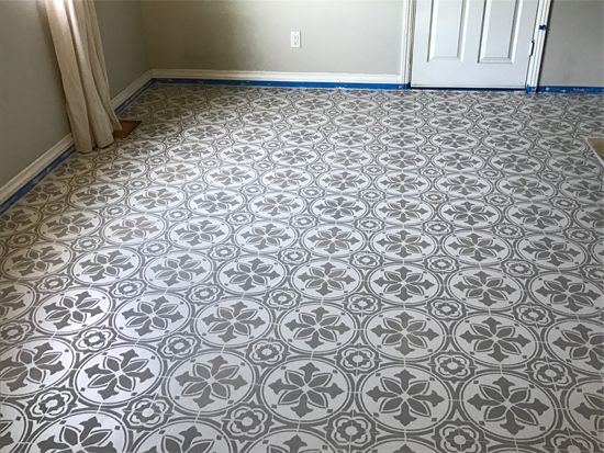 285 best stenciled painted floors images on pinterest for Best paint for linoleum floors