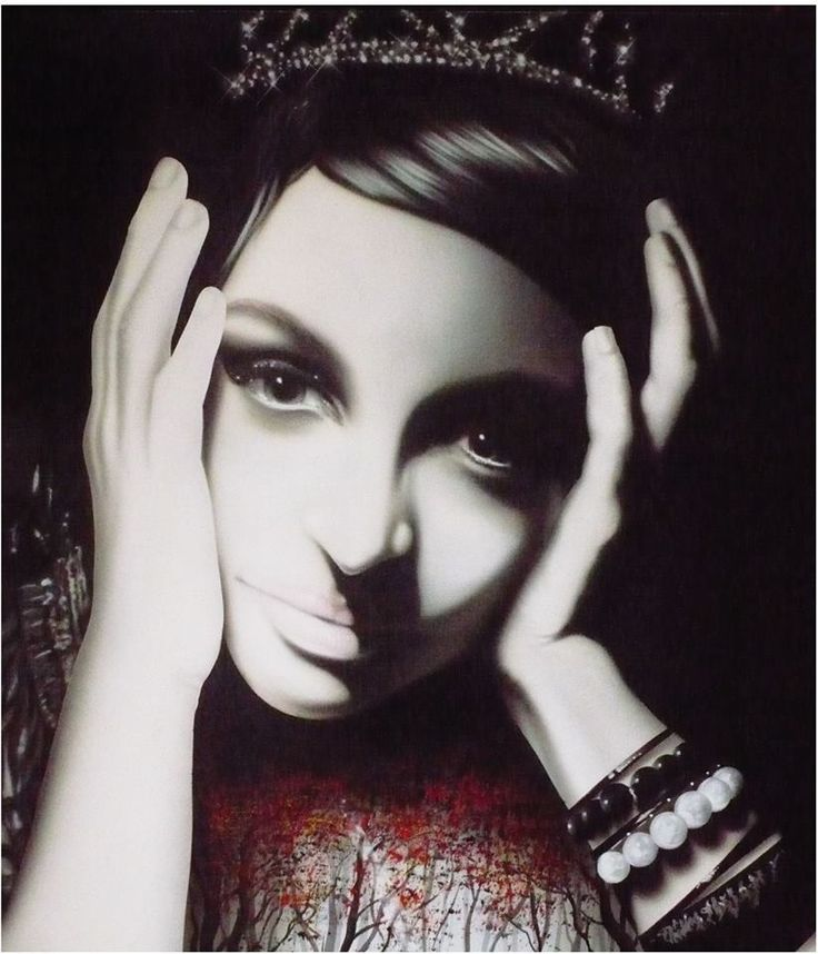 portrét - portrait (100 cm x 70 cm) plátno / acetónová farba - canavas / acetone colors...