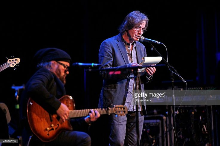 Carlos Varela and Jackson Browne perform during the 2015 Woodstock Film Festival at Ulster Performing Arts Center on September 30, 2015 in Kingston, New York.