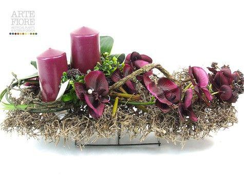 Composizione Floreale Fiori Artificiali In Tessuto
