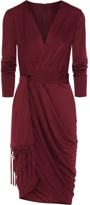 Altuzarra for Target Wrap-effect satin-jersey dress  #sponsored