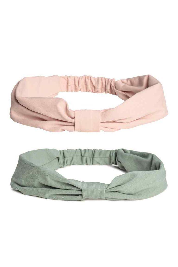 2 kpl trikoohiuspantoja - Turkoosi/Puuteriroosa - Kids | H&M FI 1