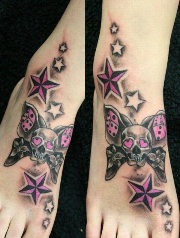 schmetterling totenkopf würfel sterne tattoo bedeutung
