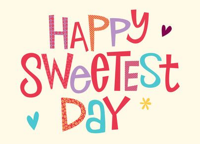 Colorful Sweetest Day Lettering 7x5 Folded Card