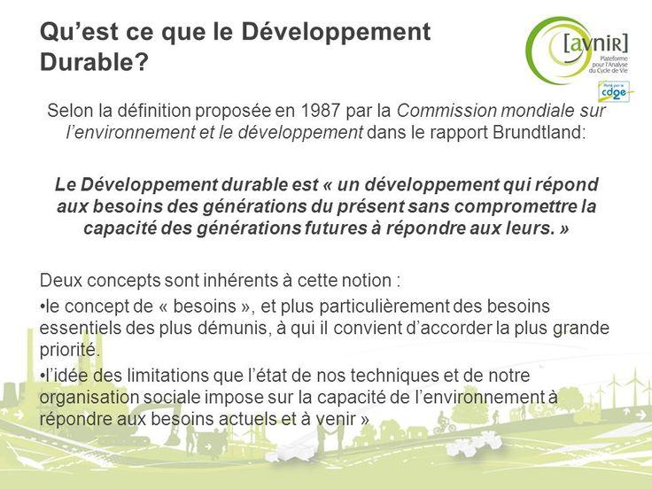 Développement Durable Concepts et Définitions -  ppt télécharger