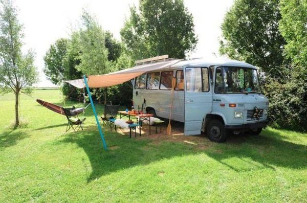 Tiny Living in the Surf Bus Cozy Camper Van http://tinyhousetalk.com/surf-bus-camper-van