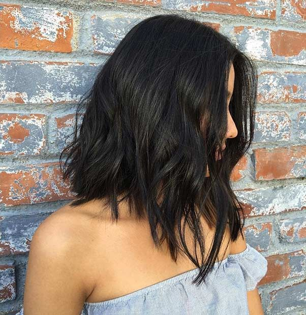 Angled Long Bob (LOB) with Layers