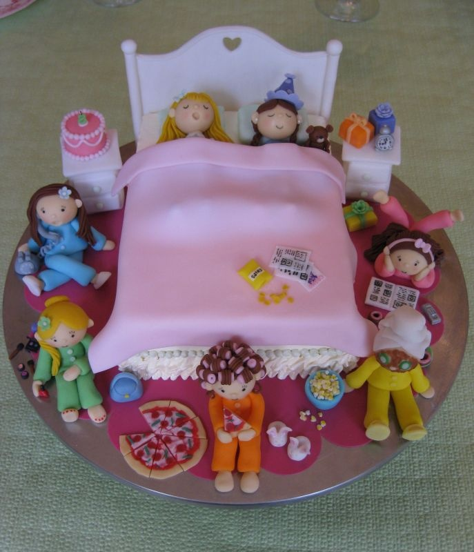 This is a cake...perfect for a sleepover party or if all your friends come to your party.