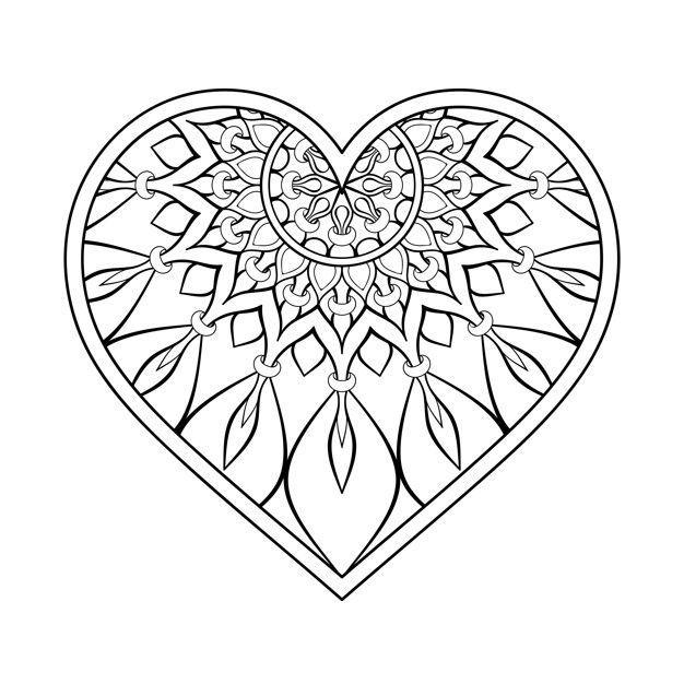 Mandala Coeur Tattoo S En 2020 Mandala Coeur Mandala Coloriage Coeur
