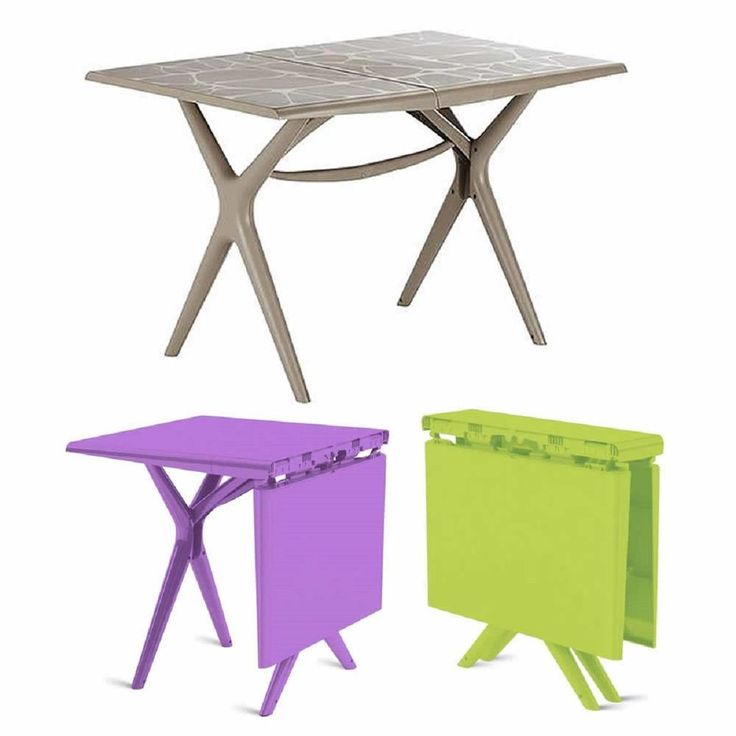 grosfillex sigma collapsible folding garden camping patio dining furniture table - Grosfillex