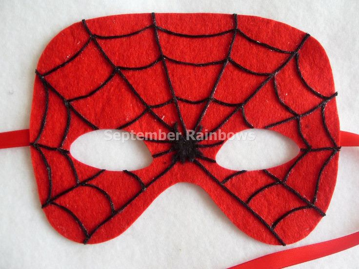 Felt Spiderman mask