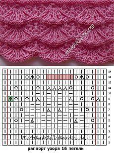 Vieiras delicados patrones | Catálogo de tejer