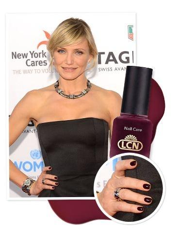 Cameron Diaz wears LCN nail polish