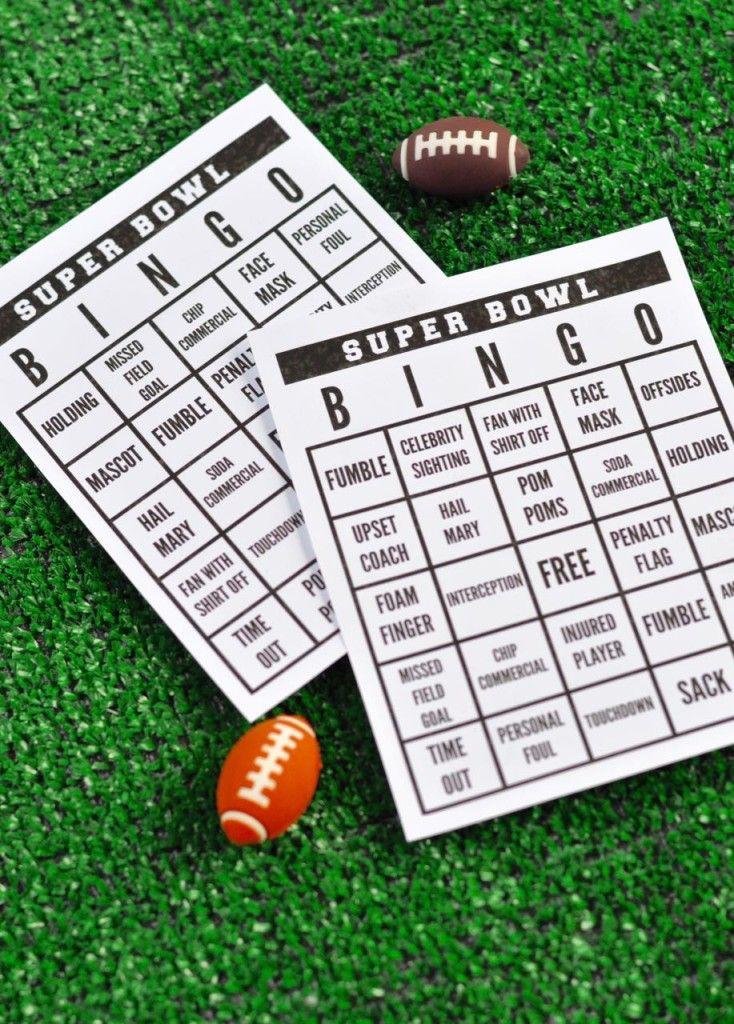 Super Bowl Party + Free Printable Super Bowl Bingo | Super Bowl Party ...