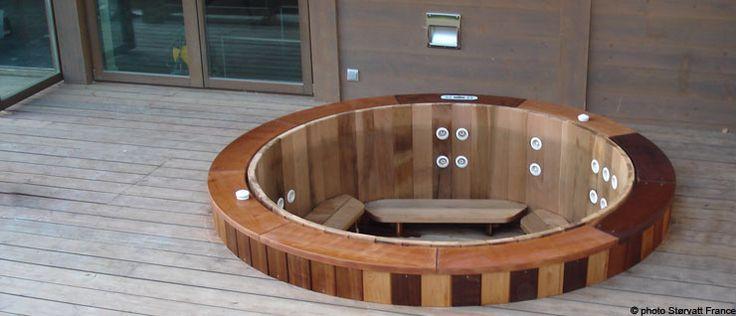 Best 25 jacuzzi bois ideas on pinterest jacuzzi design jacuzzi en bois an - Jacuzzi bois exterieur ...