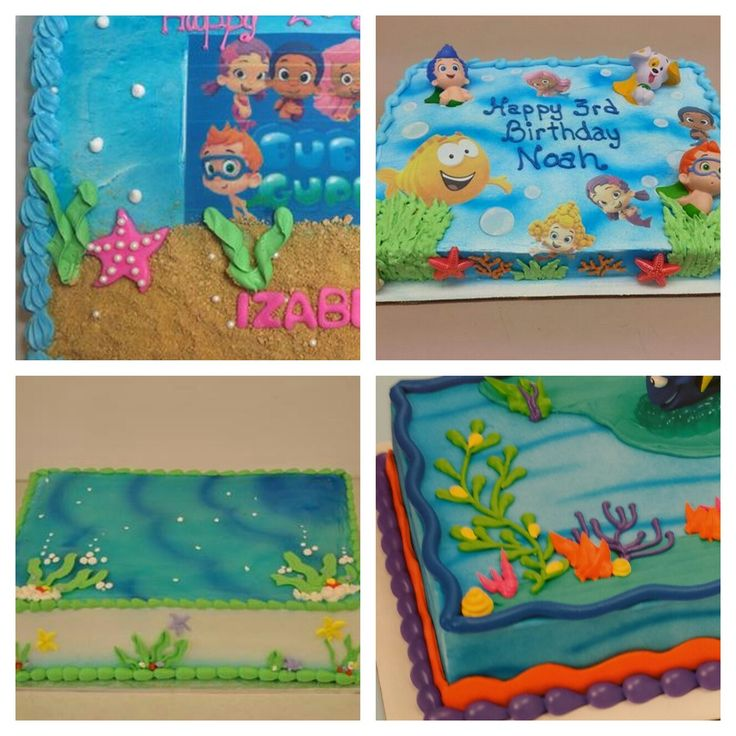 Blechkuchenentwürfe für Kallies Kuchen   – Bubble guppies party