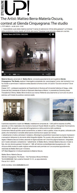 Articolo di Titti Miele per Up! Style Magazine   www.upstylemagazine.it