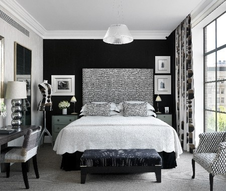 very cool black and white bedroom. 137 best images about Black   White Bedrooms on Pinterest   Black