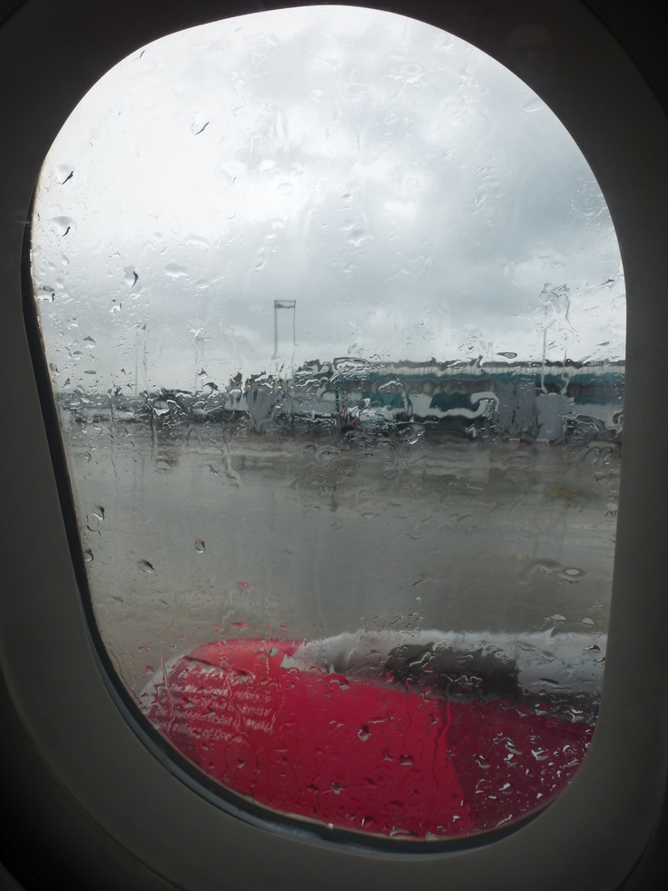 A rainy take off in Rome. May, 2013.
