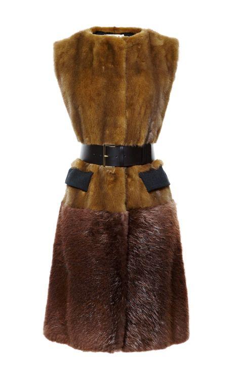 Shop Mink Vest by Marni - Moda Operandi Love this look but wish it were faux!