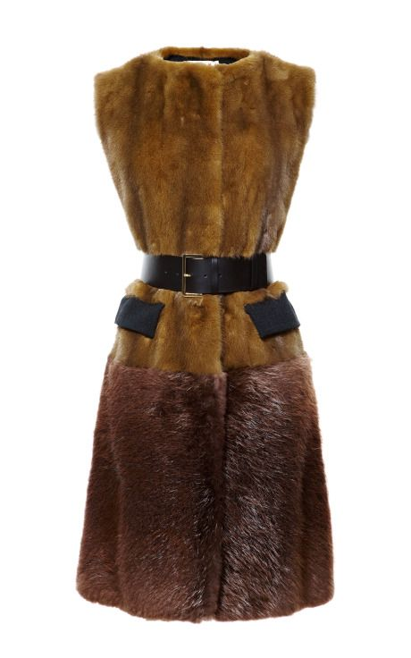 Shop Mink Vest by Marni - Moda Operandi Love this look but wish it were faux!