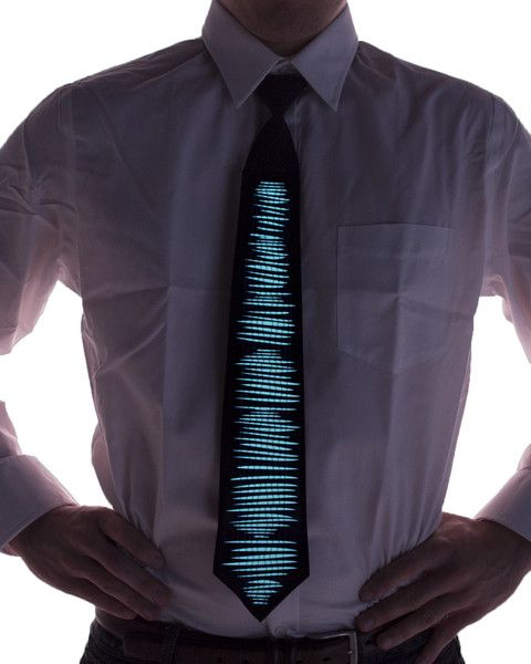 Light Up Sound Activated LED Ties