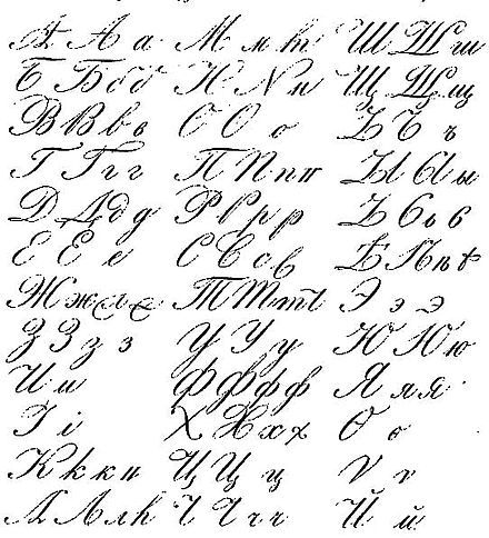 Russian cursive - Wikipedia, the free encyclopedia