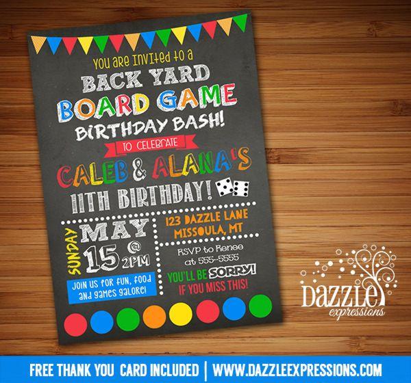 Printable Backyard Games Birthday Invitation