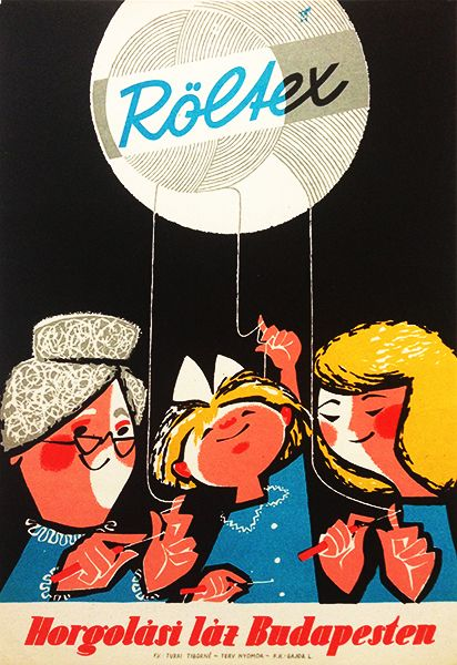 Röltex - crochet-fever in Budapest / Röltex - Horgolási láz Budapesten 1960s