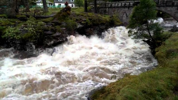 A demonstration of the extent of the floods at Linn of Dee on Mar Lodge Estate, Scotland #NTSAppeal