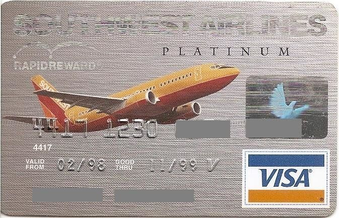 First USA Bank Southwest Airlines Platinum (First USA Bank, United States of America) Col:US-VI-0330