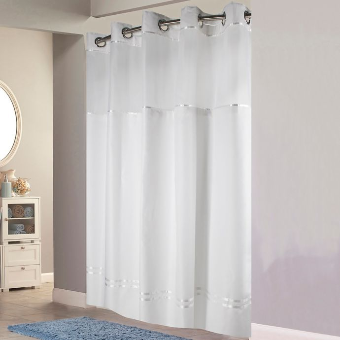 Hookless Escape Fabric Shower Curtain And Shower Curtain Liner