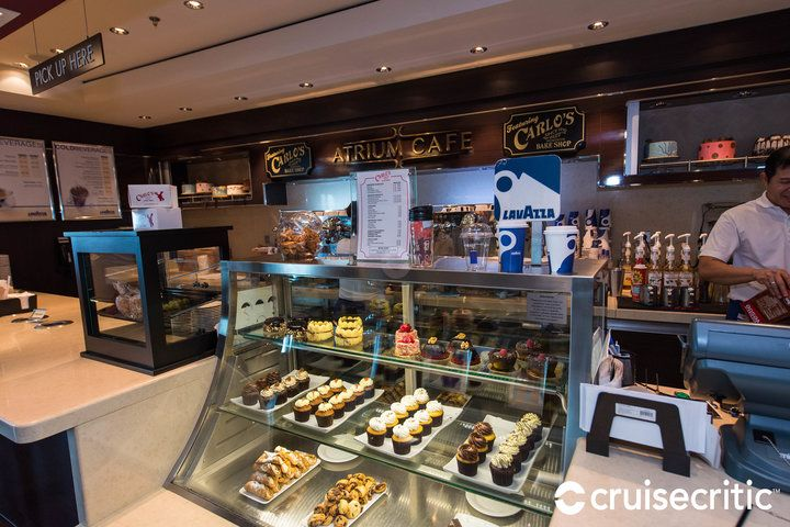 Dolce Gelato & Carlo's Bake Shop  Cuisine: Treats Dress Code: Casual  Surcharge: Yes, A la carte pricing Reservations Required: No Hours Lunch: 12:00 noon – 2:30 p.m. Dinner: 5:30 p.m. – 10:30 p.m.
