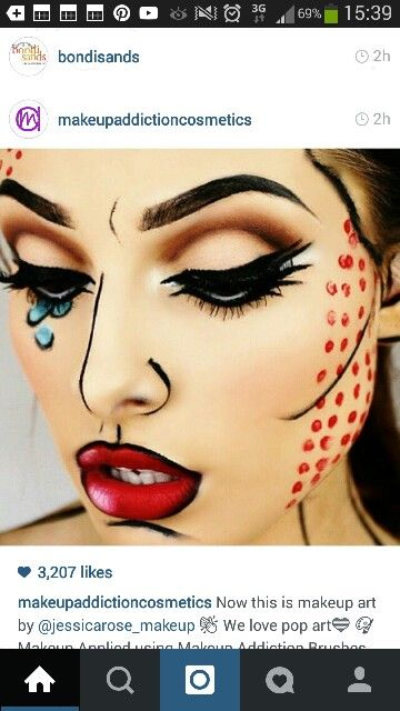 Comic makeup :-):-)                                                                                                                                                                                 More