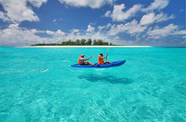 Kayaking at Bird Island,  Seychelles
