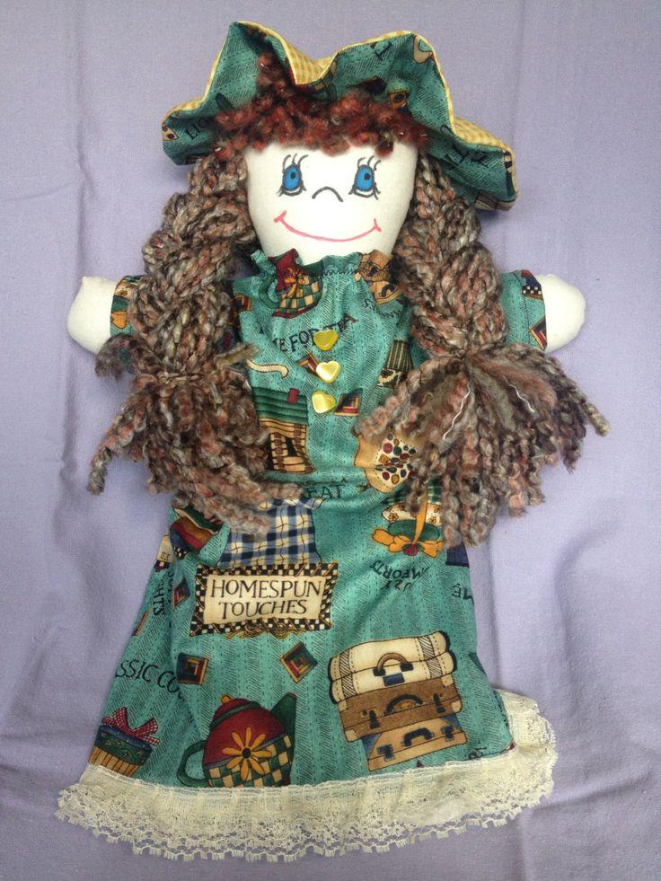 JenDoll #3 Handmade Rag, Cloth Doll by JenDolls on Etsy