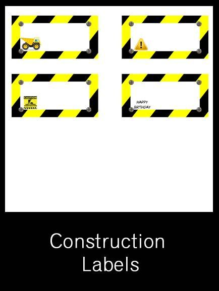 Construction Labels - FREE PDF Download